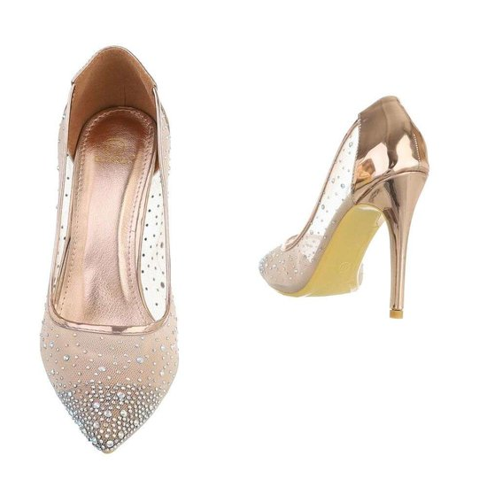 Chique champagne pump Touria.SOLD OUT