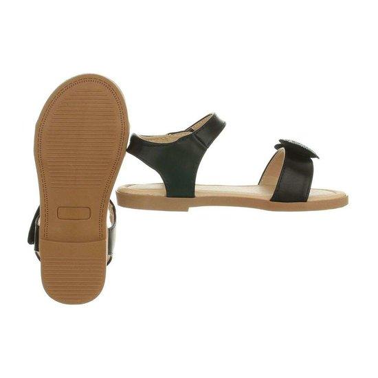 Zwarte kinder sandaal Amber.