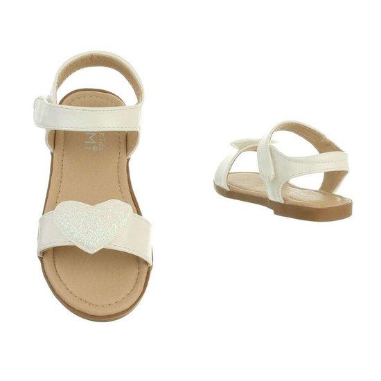 Witte kinder sandaal Amber.