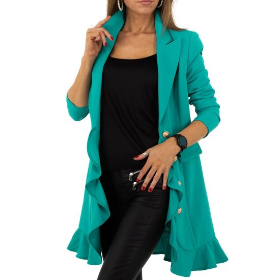 Trendy pastel groene 3/4 blazer.SOLD OUT