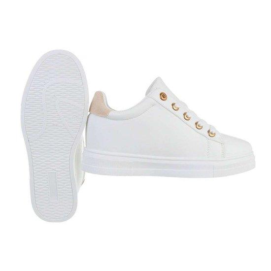 Wit-beige hoge sneaker Kila.SOLD OUT