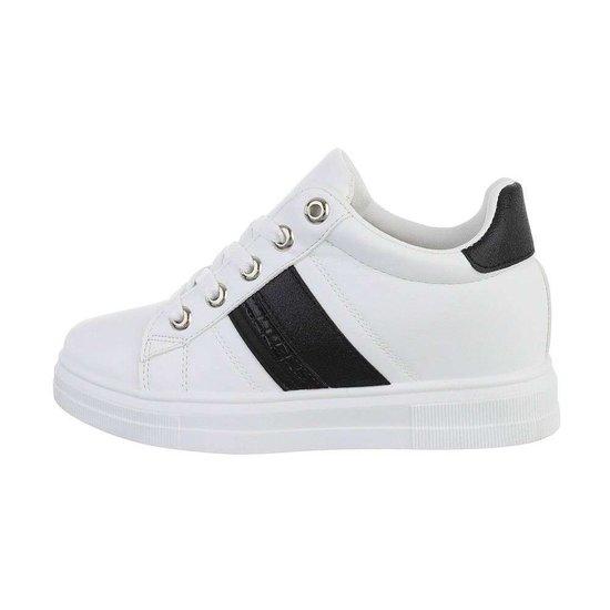Wit-zwarte hoge sneaker Kila.