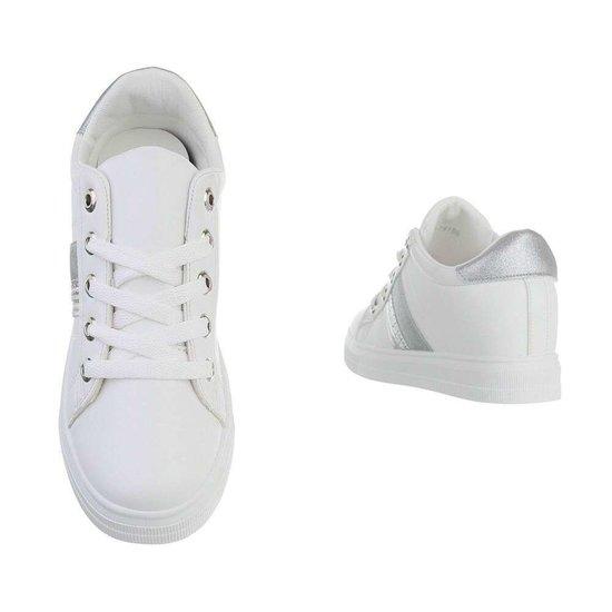 Wit-zilveren hoge sneaker Kila.