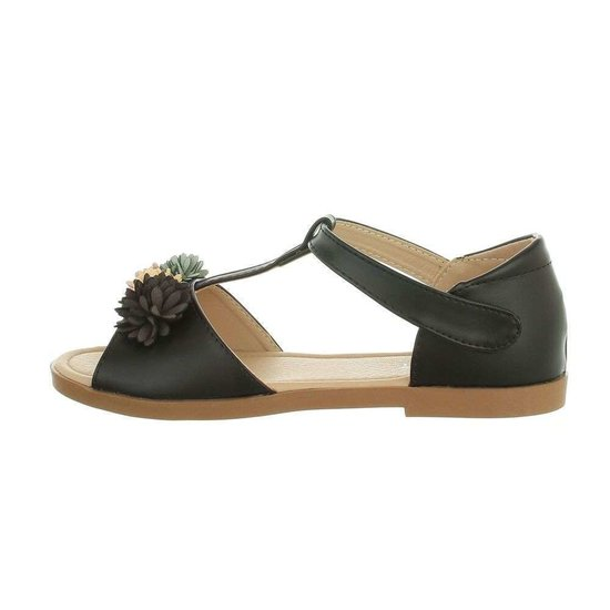 Elegante zwarte kinder sandaal Kira.
