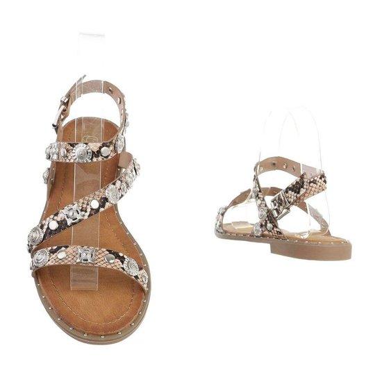 Lage kaki sandaal Kristy.
