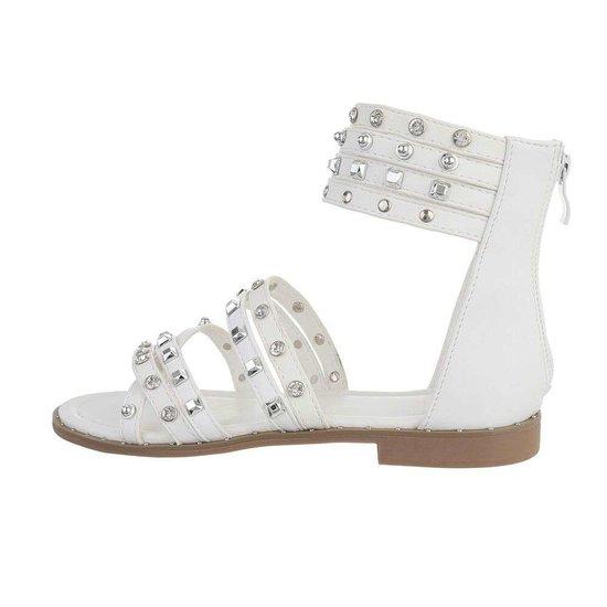 Trendy lage witte sandaal Liva.