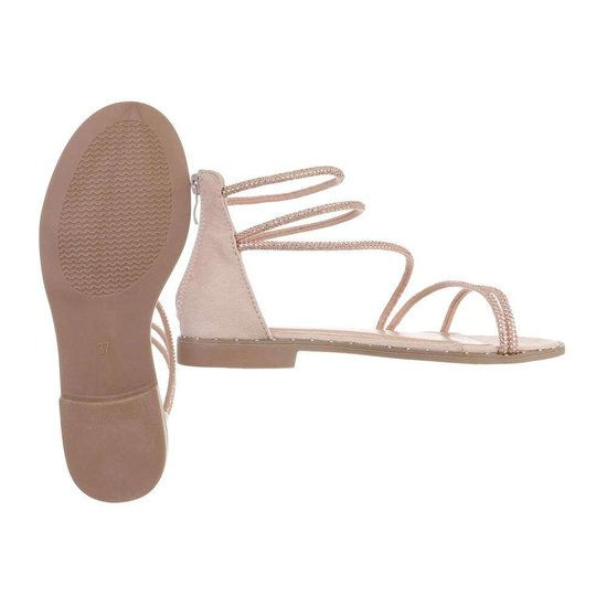Trendy lage nude sandaal Astrid.