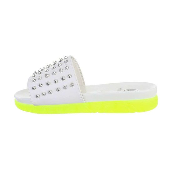 Fashion witte mule veda.
