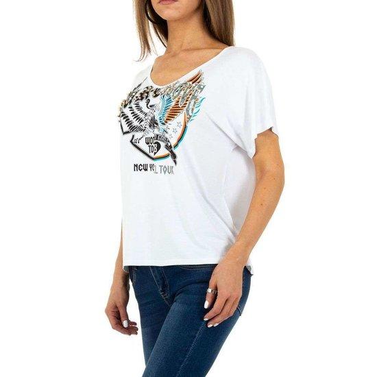 Witte t-shirt met motief.