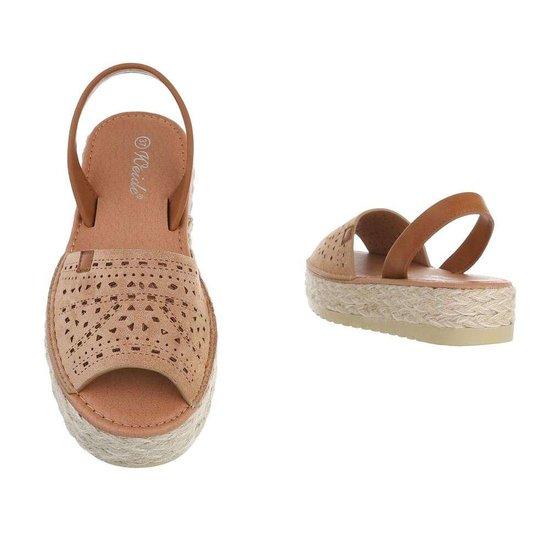 Trendy beige platform sandaal Herma.