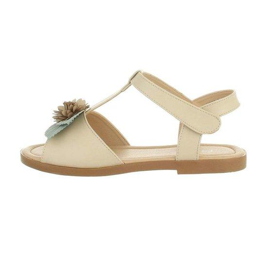 Beige kinder sandaal Nele.