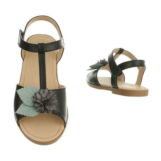 Zwarte kinder sandaal Nele.