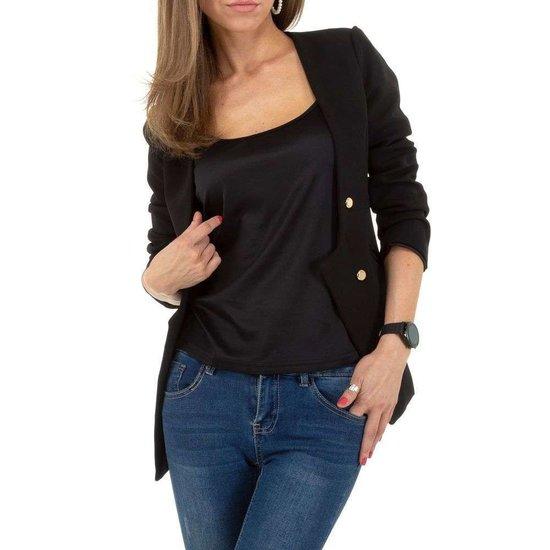 Zwarte design blazer.