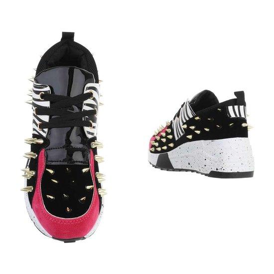 Fashion zwarte lage sneaker Orea.