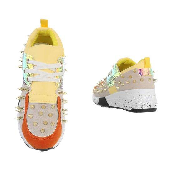 Fashion gele  lage sneaker Orea.