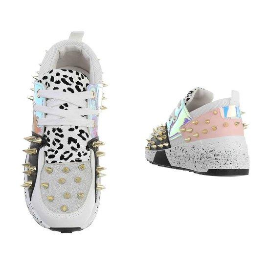Fashion zilveren lage sneaker Orea.