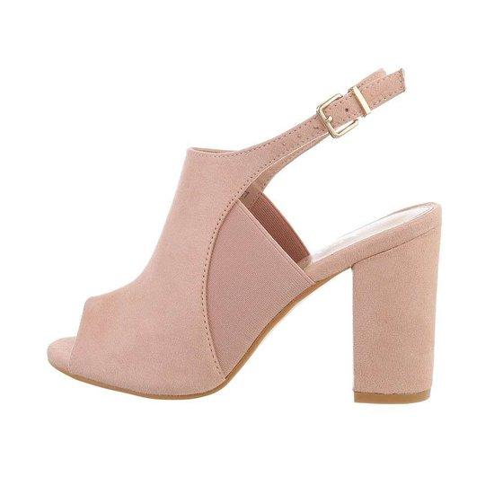 Rose hoge sandaal Sigrid.