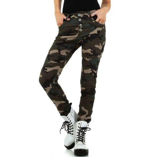 Originele camou boyfriend jeans.
