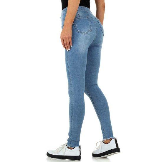 Originele high waist blue jeans.