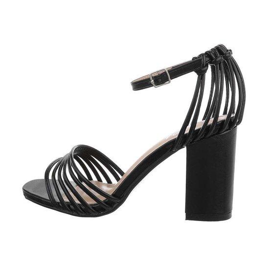 Originele hoge zwarte sandaal Suttida.