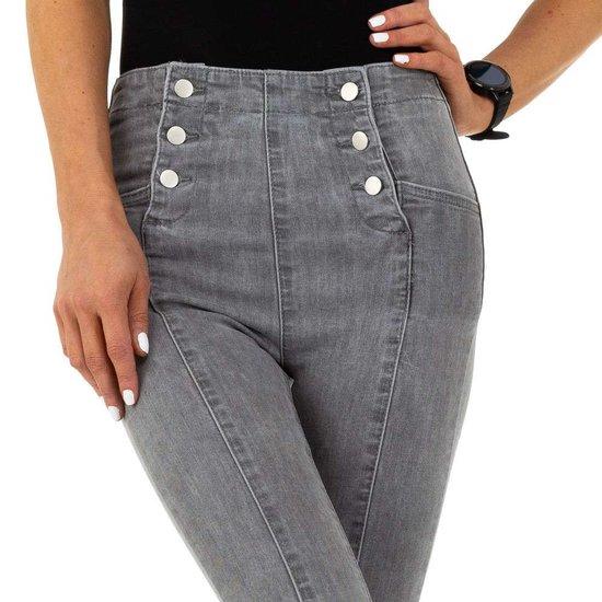 Originele high waist grijze jeans.