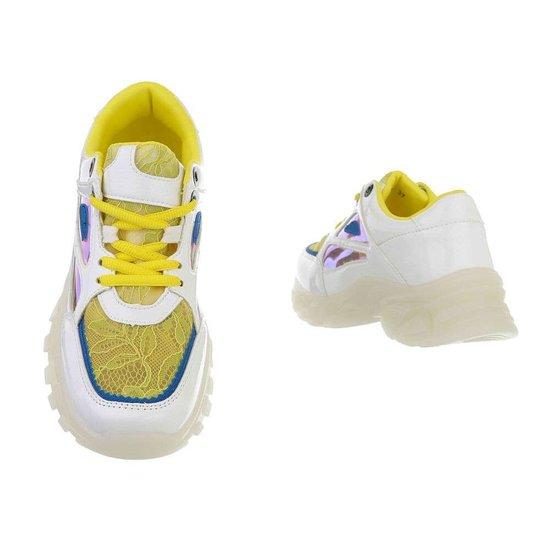 Witte lage sneaker Freia.