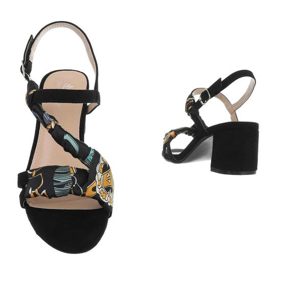 Zwarte sandaal Flox.