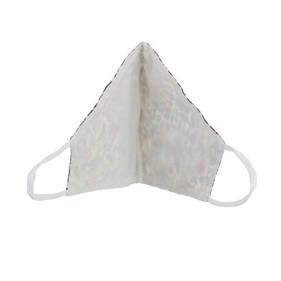 Cream mondmasker met motief.