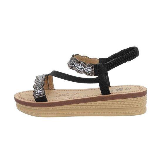Lage zwarte sandaal Iziz.