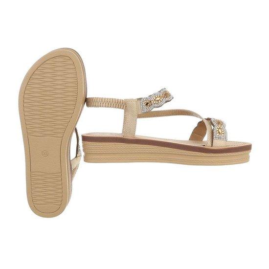Lage gouden sandaal Iziz.