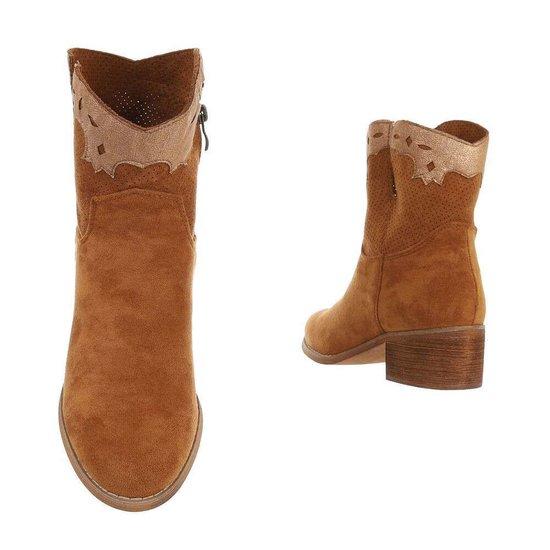 Camel biker-western boot Sanne.