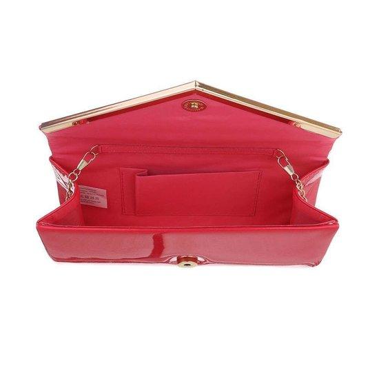 Classy fuchsia lak clutchbag.SOLD OUT