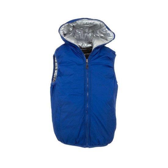 Zilveren gewatteerde reversible jongens bodywarmer.Model 2