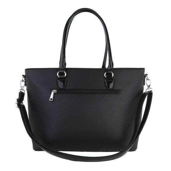 Classy zwarte schopperbag.