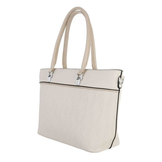 Classy beige schopperbag.