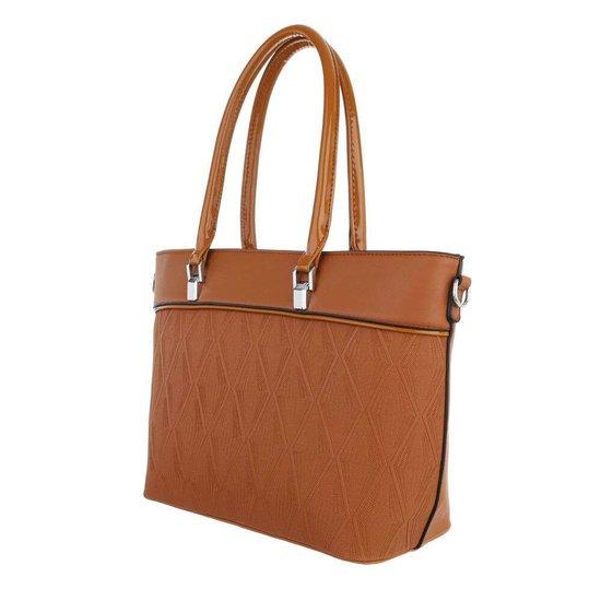 Classy camel schopperbag.