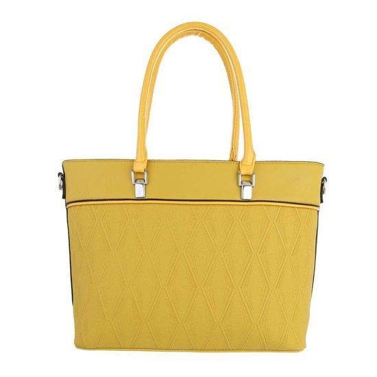 Classy gele schopperbag.