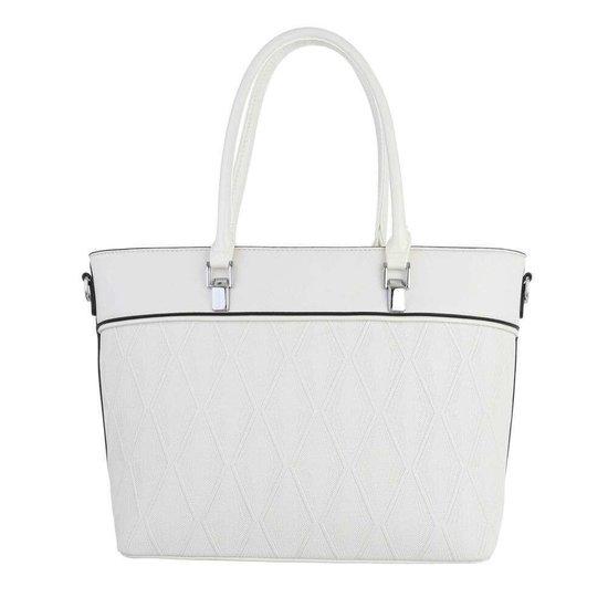Classy witte schopperbag.