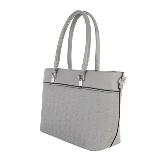 Classy grijze schopperbag.