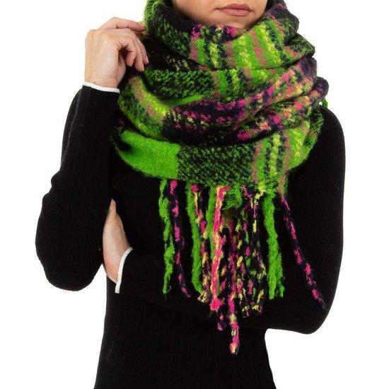 Mixed groene xxl sjaal.