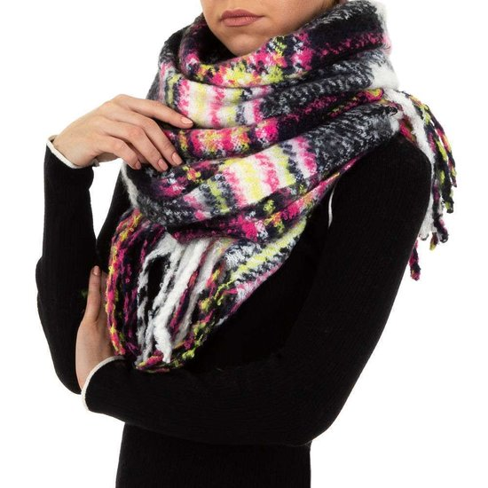 Mixed zwarte xxl sjaal.