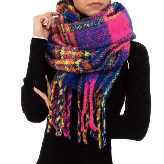 Mixed koraal roze xxl sjaal.