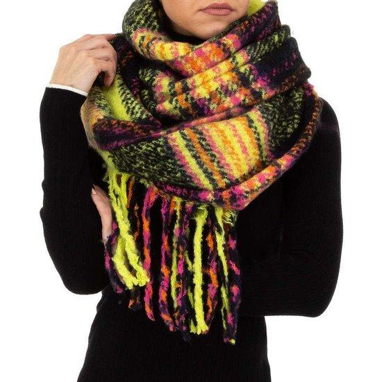 Mixed gele xxl sjaal.
