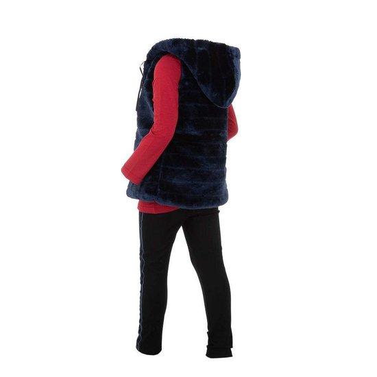 Donker blauwe fleece bodywarmer voor meisjes.