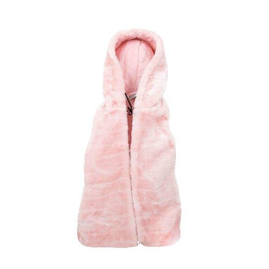 Rose fleece bodywarmer voor meisjes.