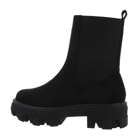 Trendy zwarte daimen Chelsea boot Meral.