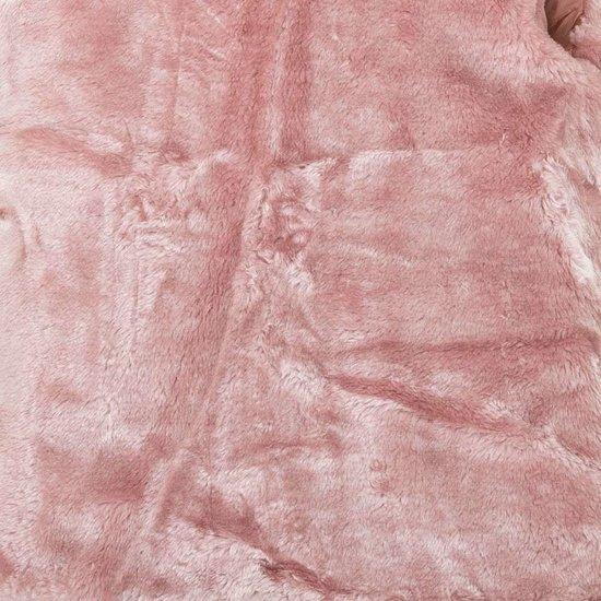 Classy rose gewatteerde meisjes winterjas.SOLD OUT