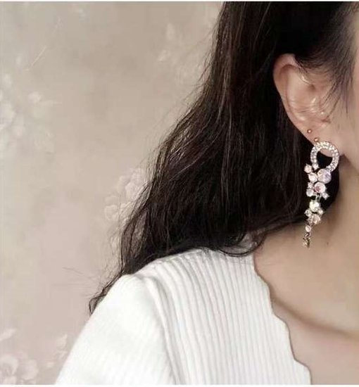 Glinsterende barok style oorbellen.SOLD OUT