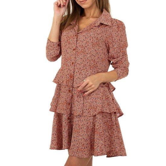 Trendy rode blouse jurk.