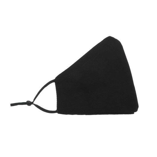 Zwart mondmasker met hart en opschrift LIKEE.